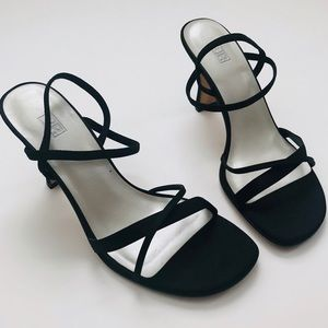 Strappy Black Sexy Kitten Heels BP Nordstrom 6.5